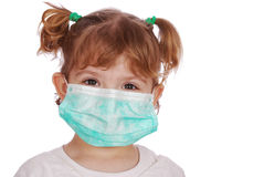 Doctor de la niña en máscara Imagenes de archivo