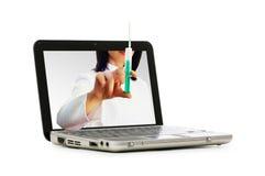 Doctor de la pantalla de ordenador Imagen de archivo libre de regalías