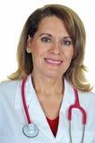 Doctor de sexo femenino atractivo Imágenes de archivo libres de regalías