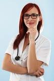 Doctor de sexo femenino confiado Imagen de archivo