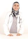 Doctor de sexo femenino musulmán fotografía de archivo