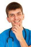 Doctor de sexo masculino feliz Imágenes de archivo libres de regalías