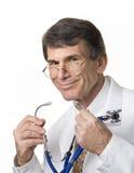 Doctor de Smiing Foto de archivo libre de regalías