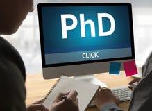 Doctor del doctorado de la graduación de la educación del grado de filosofía, Knowledg fotos de archivo libres de regalías