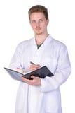 Doctor del hombre en blanco Fotografía de archivo libre de regalías