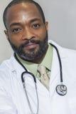 Doctor del varón del hombre del afroamericano Imágenes de archivo libres de regalías