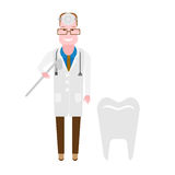 Doctor dentist. Illustration of doctor on white background Stock Photos