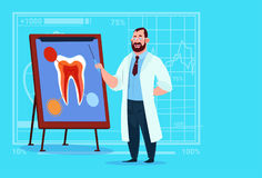 Doctor Dentist Looking At Tooth On Board Medical Clinics Worker Stomatology Hospital Royalty Free Stock Photography