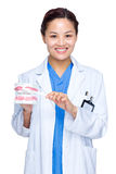Doctor dentist woman Stock Image