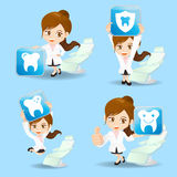 Doctor dentist woman show icon Stock Photos