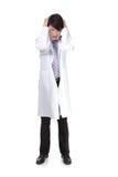 Doctor deprimido fotografía de archivo libre de regalías