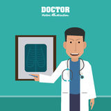 Doctor design, medical and healthcare concept Stock Images