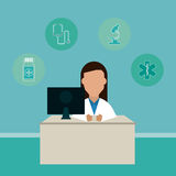 Doctor design, medical and healthcare concept Royalty Free Stock Image