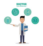 Doctor design, medical and healthcare concept Royalty Free Stock Images