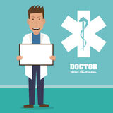 Doctor design, medical and healthcare concept Stock Image