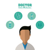 Doctor design, medical and healthcare concept Royalty Free Stock Photography