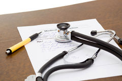 Doctor desk Stock Images