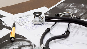 Doctor desk Stock Photography