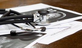 Doctor desk Stock Image