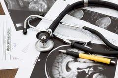 Doctor desk Stock Photo