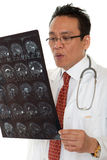 Doctor diagnosis x-ray Stock Photography