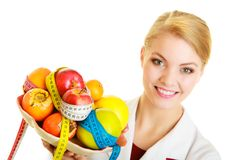 Doctor dietitian recommending healthy food. Diet. Royalty Free Stock Photo