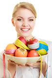 Doctor dietitian recommending healthy food. Diet. Stock Image