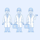Doctor in different versions Royalty Free Stock Photography