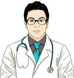 DOCTOR. Digital drawn, 100& vector Royalty Free Stock Image