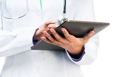 Doctor With Digital Tablet Royalty Free Stock Image