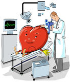 doctor and diseases of the heart Stock Images