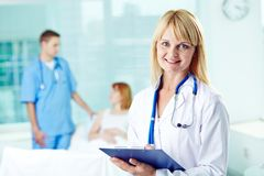 Doctor with document Stock Image