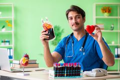 The doctor doing blood analysis in the lab. Doctor doing blood analysis in the lab Royalty Free Stock Photo
