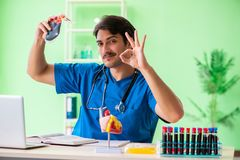The doctor doing blood analysis in the lab. Doctor doing blood analysis in the lab Royalty Free Stock Image