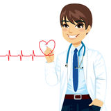 Doctor Drawing Heart stock illustration