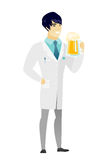 Doctor drinking beer vector illustration. Royalty Free Stock Photos