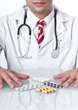 Doctor with drugs Stock Images