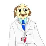 Doctor durante trabajo Foto de archivo