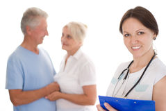 Doctor and  elderly Stock Photo