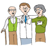 Doctor with Elderly Couple Royalty Free Stock Photo
