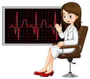 Doctor and electronic graph Royalty Free Stock Images