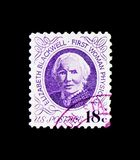 Doctor Elizabeth Blackwell, 1970-1974 Regular Issue serie, circa 1974. MOSCOW, RUSSIA - NOVEMBER 24, 2017: A stamp printed in USA shows Doctor Elizabeth Stock Photography