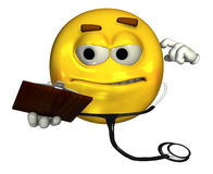 Doctor Emoticon - with clipping path Stock Image