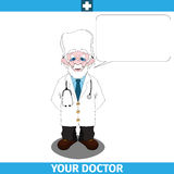 Doctor with empty dialog cloud Royalty Free Stock Image