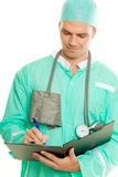 Doctor en el trabajo Imagenes de archivo