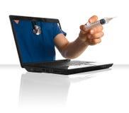 Doctor en línea Imagen de archivo libre de regalías