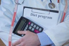 Doctor en la capa blanca del laboratorio, concepto médico de la nutrición de la atención sanitaria imágenes de archivo libres de regalías