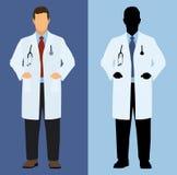Doctor en a todo color y silueta Foto de archivo libre de regalías