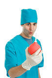 Doctor with an enema syringe Royalty Free Stock Photo