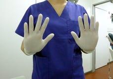 Doctor, enfermera, doctor del dentista Fotografía de archivo